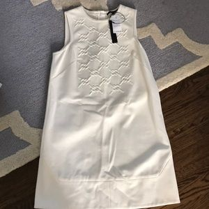 Tibi nautical knot white shirt dress S NWT